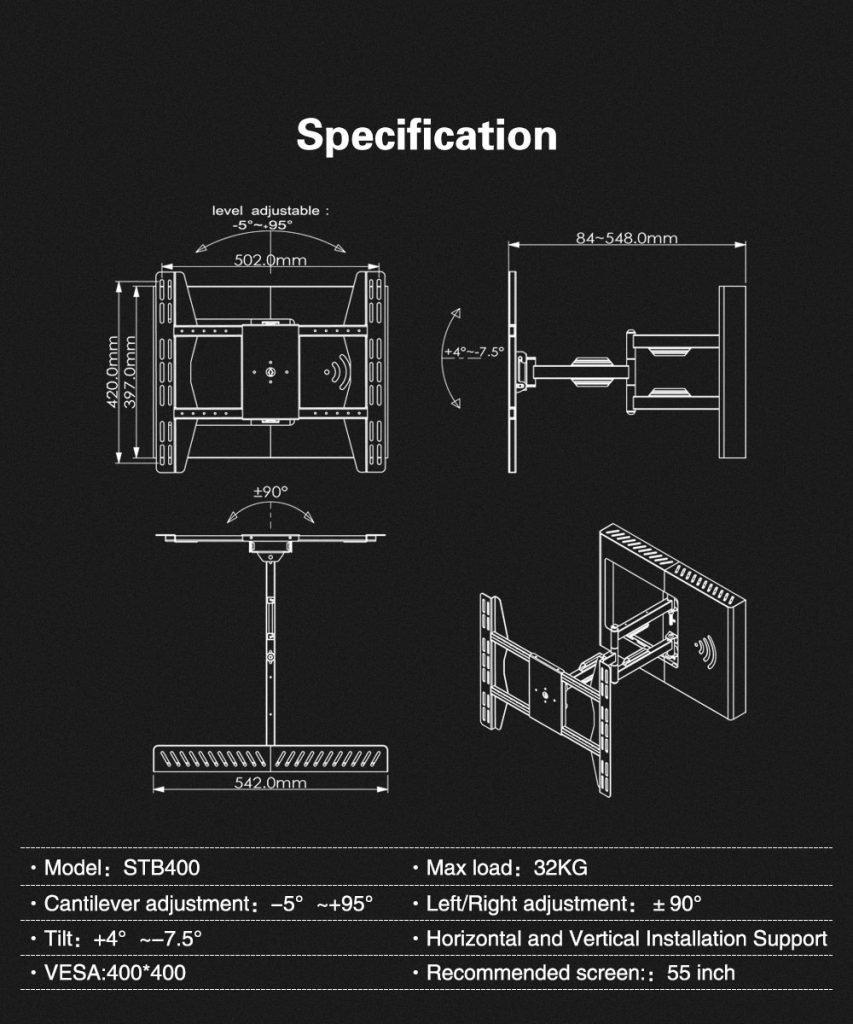 Full Motion TV Mount 8 1