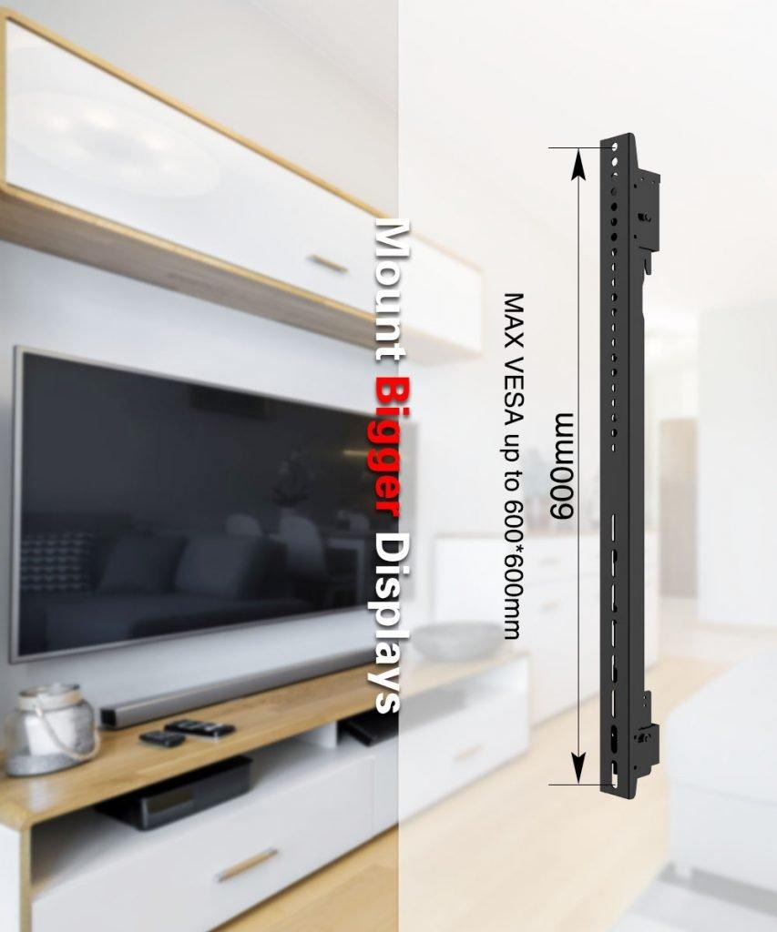 Gas Spring Micro adjustable video tv Wall Mount Bracket 4