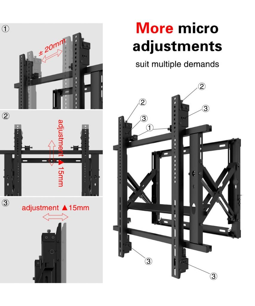 Gas Spring Micro adjustable video tv Wall Mount Bracket 5