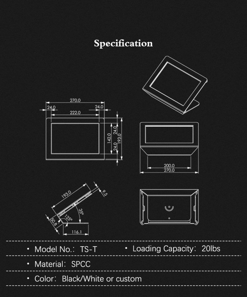 Peacemounts Tablet Kiosk TS T 8