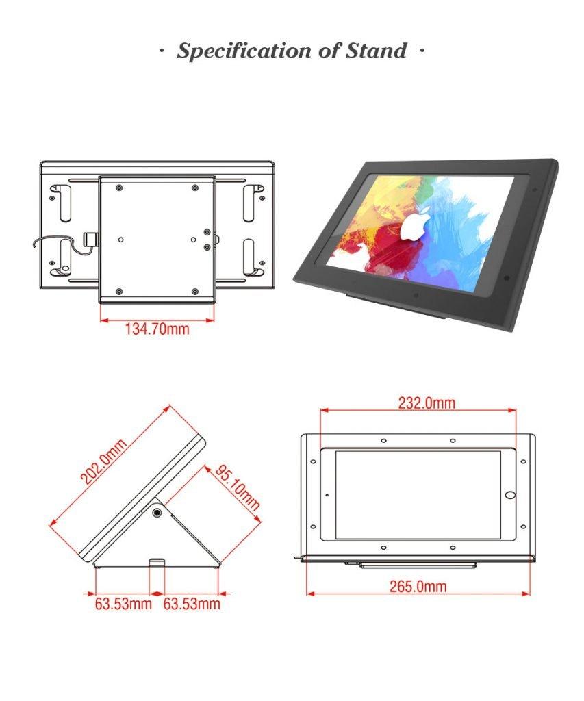 Peacemounts Tablet Kiosk TSS 1 2 1