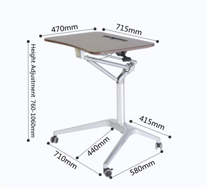 Mobile Pneumatic Office Desk 5