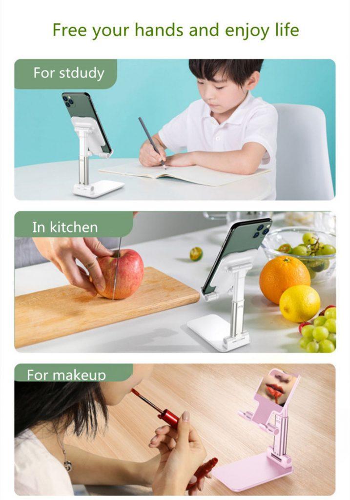Portable Folding Desktop Phone Tablet Stand Holder For iPad Mobile Phone 15