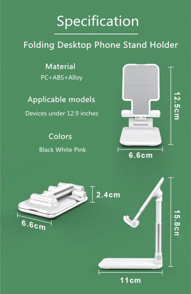 Portable Folding Desktop Phone Tablet Stand Holder For iPad Mobile Phone 16