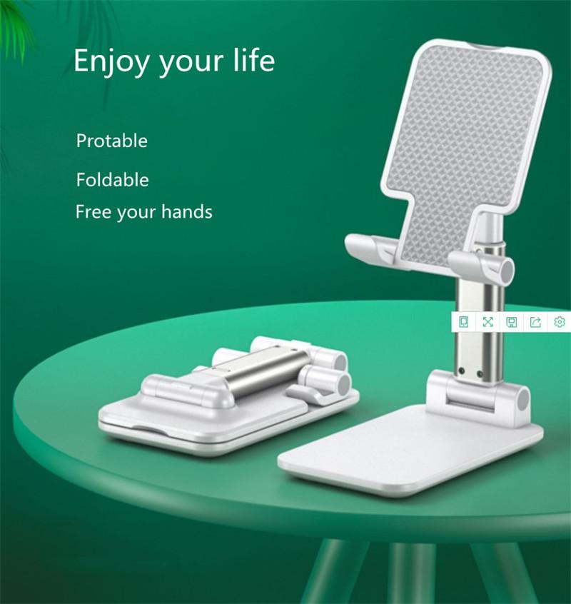 Portable Folding Desktop Phone Tablet Stand Holder For iPad Mobile Phone 5 1